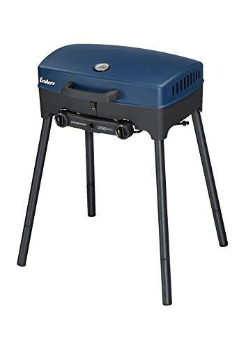 Enders® Camping Gasgrill EXPLORER NEXT, Grillen-, Kochen- und Backen Funktion, 2 Brenner Edelstahl, kleiner Grill, Balkon-Picknick-Camping-Grill mit...