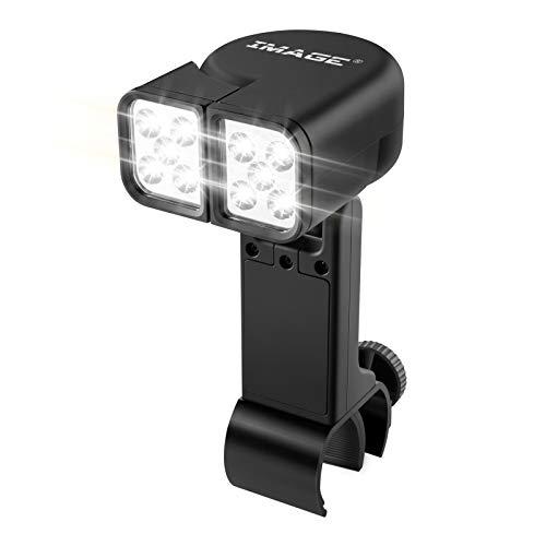 IMAGE Grilllampe Grill Licht 10 LEDs verstellbare BBQ Grillbeleuchtung mit Touch Schalter und C-Klemme Befestigung für Barbecue Picknick Outdoor