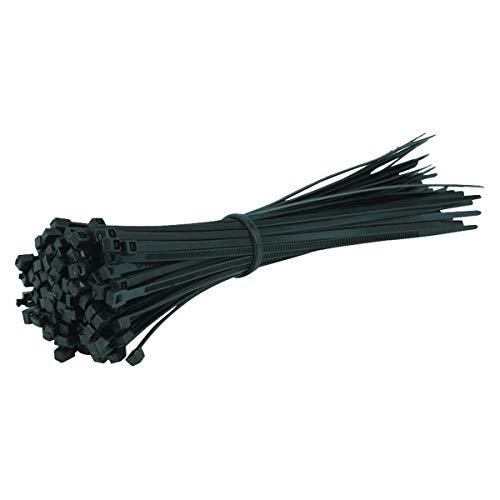 Gocableties 100 Stück, Kabelbinder schwarz, 200 mm x 4,8 mm, Premiumqualität UV-beständiges Set