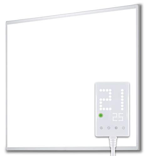 Heidenfeld Infrarotheizung HF-HP100/110 Weiß - 10 Jahre Garantie - inkl. Thermostat - Deutsche Qualitätsmarke - TÜV GS - 300 - 1200 Watt - 3 - 28 m² (HF-HP100...