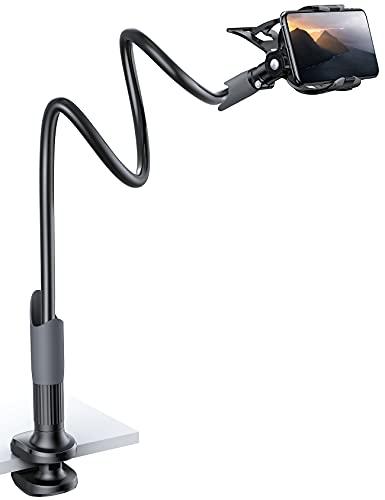 Lamicall Handy Halter für Bett, Schwanenhals Handy Halterung - Flexible Lang Arm Handy Ständer für iPhone 12 Mini, 12 Pro Max, 11 Pro XS Max X 8 7 6S, Samsung S10...