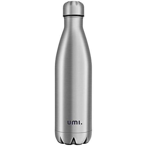 Umi. by Amazon - Vakuum Isolierte Edelstahl Trinkflasche Thermosflasche, BPA Frei Wasserflasche Auslaufsicher - 750ml SportFlasche für Sport, Outdoor, Büro,...