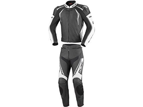 Büse Silverstone Pro 2-Teiler Motorrad Lederkombi 54 Schwarz/Weiß