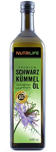 Schwarzkümmelöl ungefiltert, kaltgepresst, 100% naturrein und naturbelassen, 1000ml, Frischegarantie: täglich mühlenfrisch direkt vom Hersteller Kräuterland...