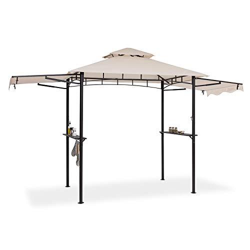 blumfeldt Steakhouse Wings - Pavillon Grilldach Grillpavillon, Größe: 235 x 242 x 145 cm (BxHxT), Regen-/Sonnenschutzdach: Polyester 160g...