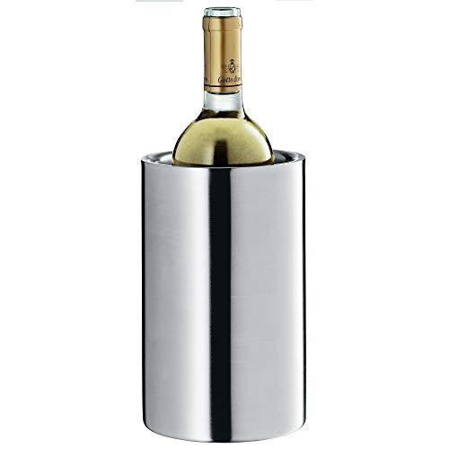 WMF Clever&More Sekt-Weinkühler Edelstahl 19,5 cm, Flaschenkühler doppelwandig, hält länger kühl, Sektkühler, Wine Cooler, Eiswürfelbehälter, matt