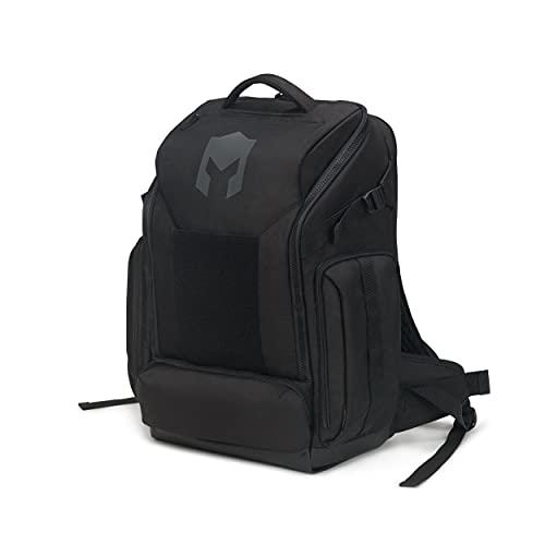 CATURIX ATTACHADER - Gaming-Rucksack für Laptops und Konsolen bis 17,3', wasserabweisender Rucksack mit 33l Volumen, schwarz