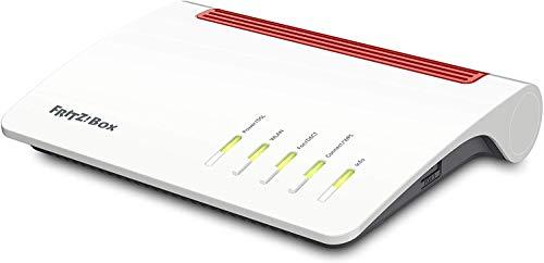 AVM FRITZ! Box 7590 WLAN AC+N Router (DSL/VDSL,1.733 MBit/s (5GHz) & 800 MBit/s (2,4 GHz), bis zu 300 MBit/s mit VDSL-Supervectoring 35b, WLAN Mesh, DECT-Basis,...