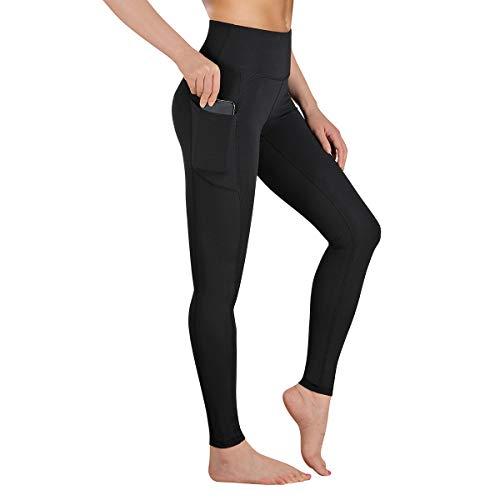 Gimdumasa Leggings Damen Fitness, Yogahose, Lange Blickdicht Yoga Hose Sporthose Fitnesshose mit Taschen GI188 (Schwarz, M)