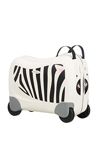 Samsonite Dream Rider - Children's Luggage, 51 cm, 28 L, White (Zebra Zeno)