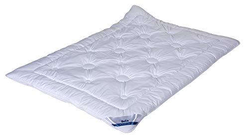 BeCo Royal Soft Microfaser Bettdecke, 135x200 cm, Leicht (Sommer), sehr kuschelig durch Soft-Finish, Allergiker geeignet