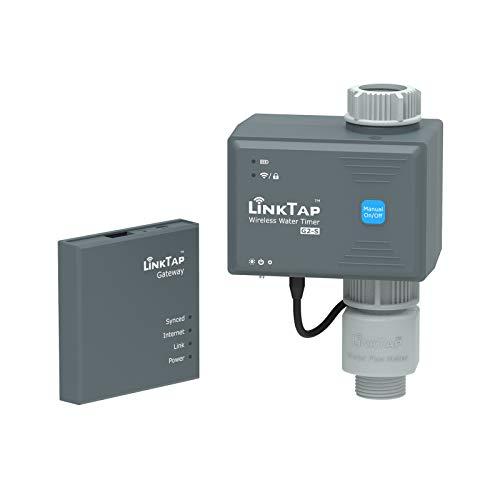 LinkTap G2S Drahtlose Bewässerungscomputer, Gateway, Wassermengenzähler - Automatische Bewässerungsuhr IP66 mit App für Garten, Größere Reichweite Als WiFi,...