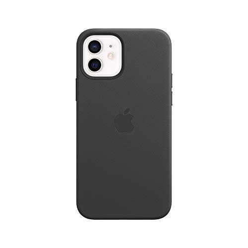 Apple Leder Case mit MagSafe (für iPhone 12 | 12 Pro) - Schwarz - 6.1 Zoll