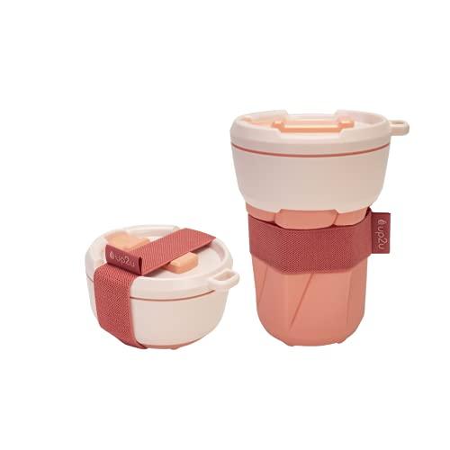 MuC My useful Cup® – Faltbarer Coffee-to-go Becher versch. Farben   klimaneutral   Made in Germany   Reisebecher   Mehrwegbecher für unterwegs   recycelbarer...