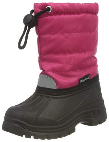 Playshoes Unisex Kinder Winterstiefel Schneeschuhe Warmfutter Schneestiefel, Rosa (18 Pink), 22/23 EU