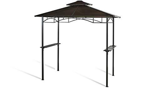 GRASEKAMP Qualität seit 1972 Hardtop BBQ Grill Pavillon 1,5x2,4m Doppelstegplatten Polycarbon Grillpavillon