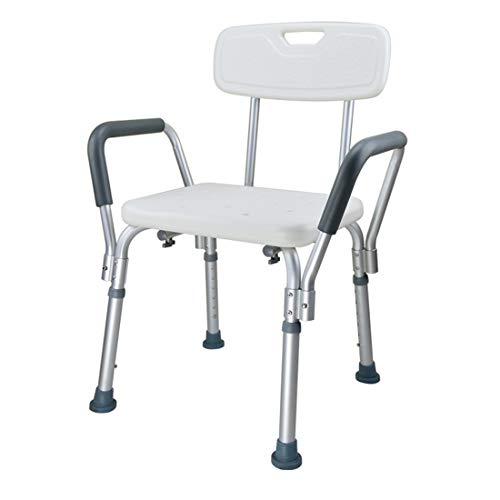 BFYLIN-suihkukaapin suihkutuoli kylpyhuoneen tuolin korkeuden säädettävä kylpyhuoneen jakkara-suihkutuki käsinojilla ja selkänojan korkeudella säädettävissä vanhuksille, raskaana oleville naisille (malli 7)