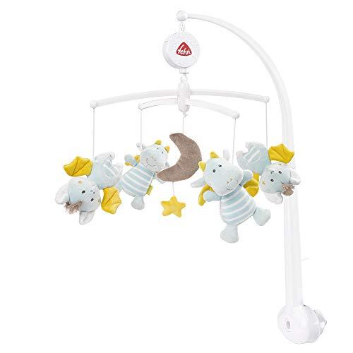 Fehn 065084 Musik-Mobile Little Castle – Spieluhr-Mobile mit zauberhaften Schlosswesen – Für Babys von 0-5 Monaten – Höhe: 65 cm, ø 40 cm