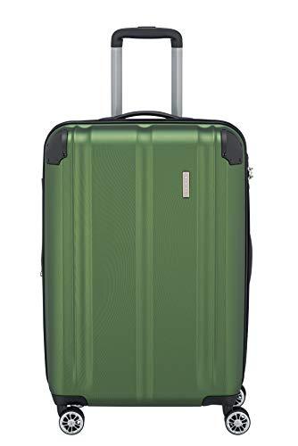 Travelite 4-Rad Koffer M mit TSA Schloss + Dehnfalte, Gepäck Serie CITY: Robuster Hartschalen Trolley mit kratzfester Oberfläche, 073048-80, 68 cm, 78 Liter...