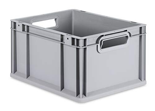 aidB Eurobox NextGen Grip, 400x300x220 mm, Griffe offen, robuste Plastikbox aus Kunststoff mit ergonomischen Griffen, stapelbare Kunststoffkiste, ideal für die...