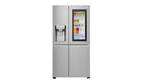 LG Electronics InstaView GSX 961 NEAZ Side-by-Side / A++ / 178 cm / 376 kWh/Jahr / 405 L Kühlteil / 196 L Gefrierteil / edelstahl / Pure and Fresh Luftfilterung im...
