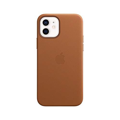 Apple Leder Case mit MagSafe (für iPhone 12 | 12 Pro) - Sattelbraun