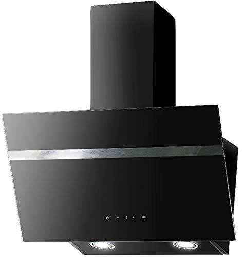 Dunstabszugshaube Schwarz   90cm   Randabsaugung   Touch Control & LED Beleuchtung   EEK A   415m³/h - 616m³/h Luftstrom   Abluft- und Umluft