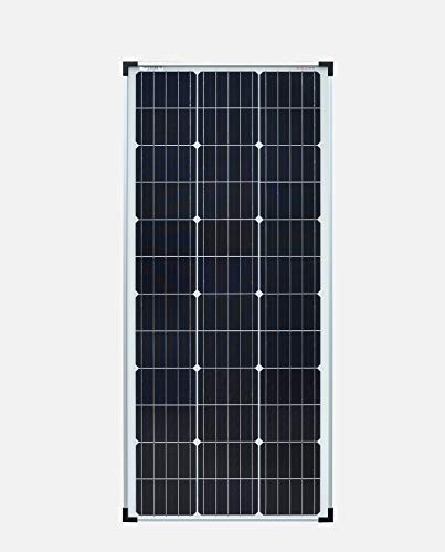 enjoysolar Mono 100W Monocrystalline solar panel 100Watt ideal for mobile homes, garden sheds, boats (single packaging)