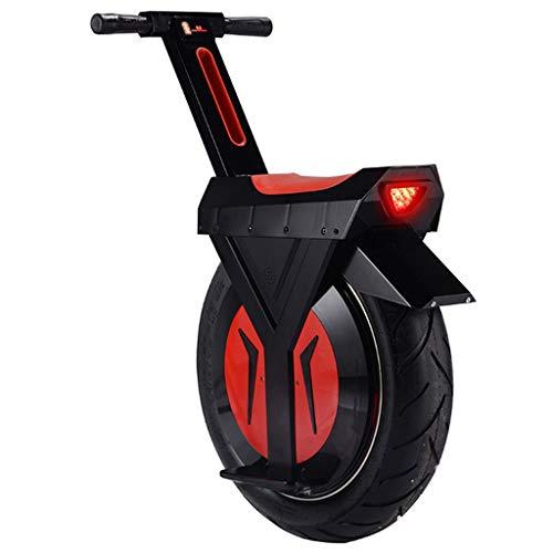 Electric Unicycle 17 Inch Bicycle Intelligent Somatosensory Single Wheel Motorcycle Balance Bike, Black, 12Ah