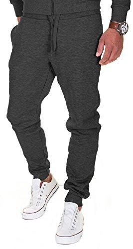 MERISH Jogginghose Herren Jogger Männer Baumwolle Jungen Slim Fit 211, Anthrazit, XL