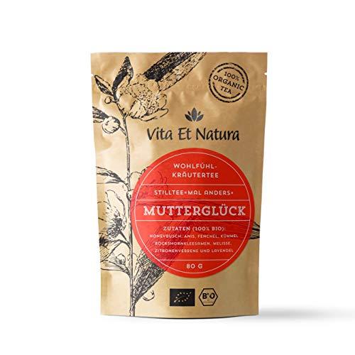 Vita Et Natura BIO Stilltee'Mutterglück' - 100% biologischer Milchbildungstee - 80 g loser Kräuter-Tee mit Bockshornklee - Stillzeit - Koffeinfrei