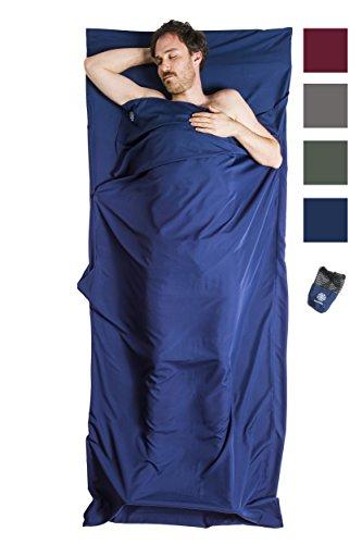 Bahidora microfibre sleeping bag, sleeping bag inlay, sleeping bag inlay, travel sleeping bag. Ideal for hostels, mountain huts and youth hostels (dark blue)