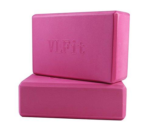 VLFit 2er-Set Yoga Blöcke / Yogablock - Wählen Sie Ihre Farbe und Größe (ROSA)