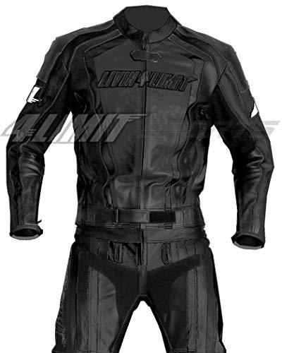 4LIMIT Sports Motorrad Lederkombi LAGUNA SECA Zweiteiler, Schwarz, Größe XL