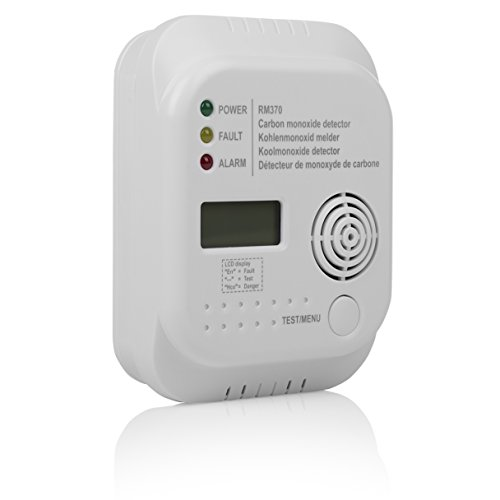 Smartwares RM370 carbon monoxide CO detector with display and temperature display, test button, 1 piece