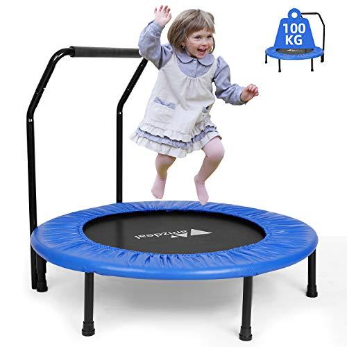 amzdeal fitness trampoliini, Ø n. 92 cm, lasten trampoliinihyppymatto Taitettava urheilutrampiini sisä- ja ulkokäyttöön - ammattimainen ...