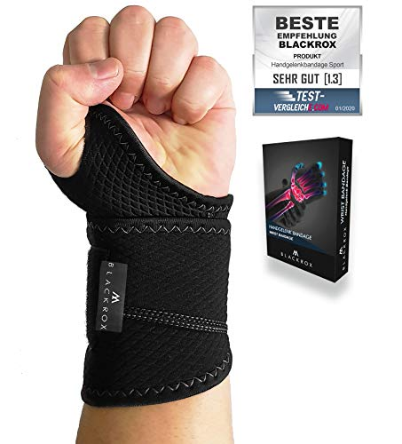 BLACKROX wrist bandage fitness, wrist bandage Crossfit, wrist wraps, thumb bandage hand bandage weight training, wrist support left & right breathable, ...