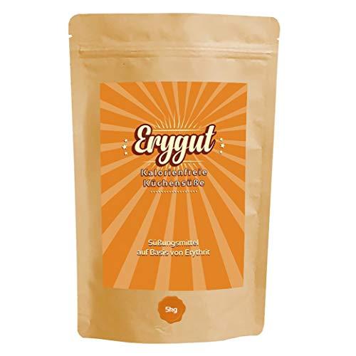 Erythrit 5 kg von Erygut   5000g kalorienfreier Zucker Ersatz aus Erythritol   Zuckeralternative für Diät und zum Abnehmen geeignet   Erithrit Light