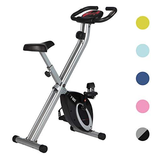Ultrasport Heimtrainer F-Bike Advanced, LCD-Display, klappbarer Hometrainer, verstellbare Widerstandsstufen, mit Handpulssensoren, faltbarer Fahrradtrainer, für...