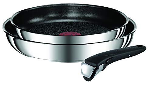 Tefal L94092 Ingenio Preference Pans set, including handle, suitable for induction, non-stick, stainless steel, 24 + 28 cm