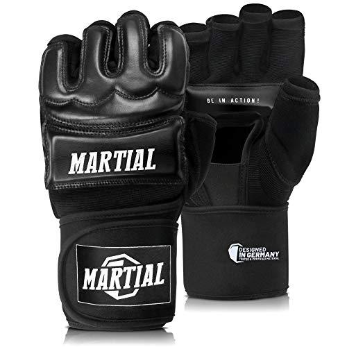 MMA Handschuhe Profi von Martial - professionelle Qualität - hochwertige Konstruktion - Boxen, Training, Sandsack, Boxsack, Freefight, Grappling, Kampfsport -...
