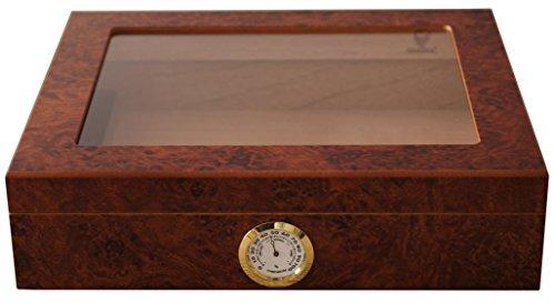 GERMANUS Zigarren Humidor Mensalla fr ca. 30 Zigarren, Braun