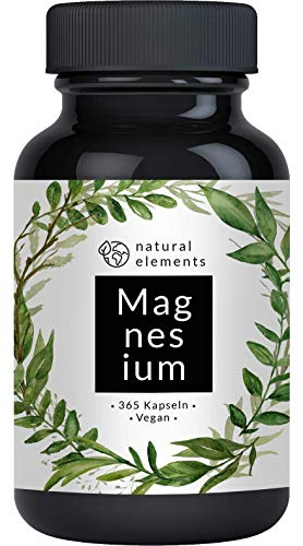 Premium magnesium citrate - comparison winner 2020 * - 2250mg of which 360mg elemental magnesium per daily dose - 365 capsules - Laboratory-tested, high-dose, made in ...
