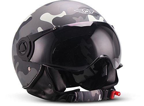 "Moto Helmets H44 ""Matt Black"" · Jet-Helm · Motorrad-Helm Roller-Helm Scooter-Helm Bobber Mofa-Helm Chopper Retro Cruiser Vintage Pilot Biker Helmet · ECE..."