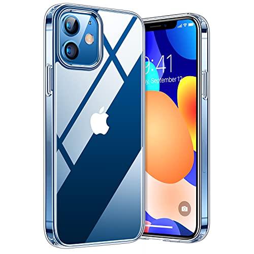 TORRAS Diamond Series für iPhone 12/12 Pro Hülle Vergilbungsfrei (Extrem Transparent) Ultra Dünn (Superstarke Stoßfestigkeit) Kratzfest Unzerstörbare...
