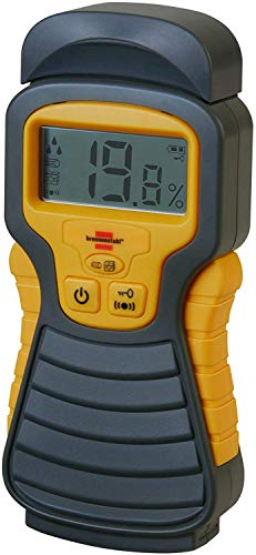 Brennenstuhl Moisture Detector MD (moisture meter / moisture meter for wood or building materials, with LCD display) anthracite / yellow