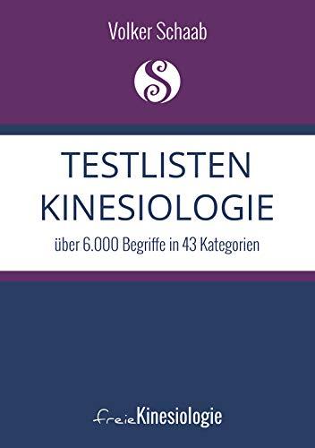Testlisten Kinesiologie: über 6.000 Begriffe in 43 Kategorien