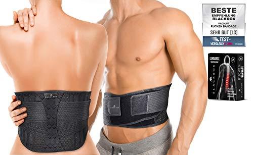BLACKROX Rückenbandage Lendenwirbelstütze'LUMBAROX' Gürtel Stützgürtel Lendenwirbel Rücken Gurt für Männer und Frauen Stabilisierung rücken geradehalter...