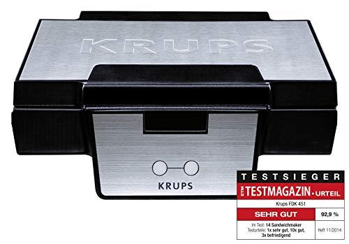 Krups FDK 251 Waffeleisen, 850 Watt fr Belgische Waffeln, schwarz - edelstahl