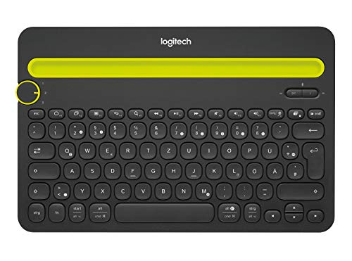 Logitech K480 Wireless Bluetooth Keyboard for Computer, Tablet and Smartphone (QWERTZ) Black